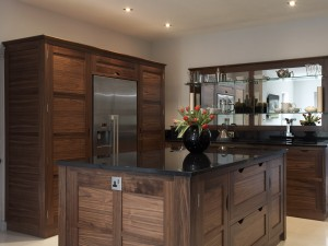 Walnut Kitchen with Nickel details