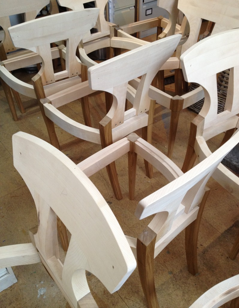 Dining Chairs ready for upholstery